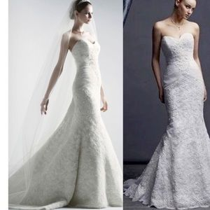 Oleg Cassini Trumpet Wedding Dress NEVER WORN!
